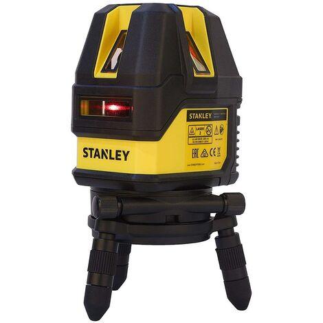 Stanley - Nivel láser multilínea con un alcance de 10 m a 50 m de láser rojo - STHT77514-1
