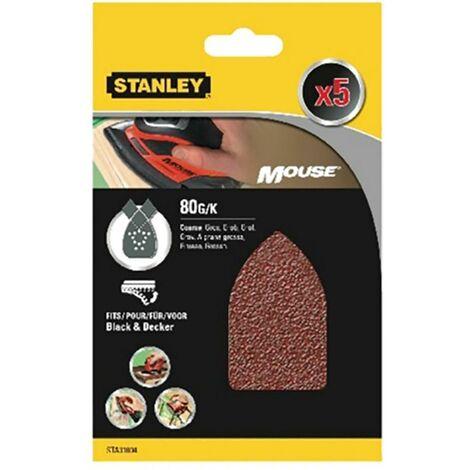 Stanley Perforated 080 grit Mouse Sanding Sheet (feuille de ponçage perforée pour souris)
