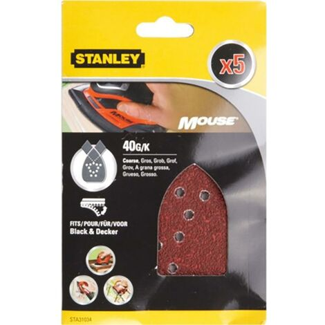 Stanley Perforated Mouse Feuille de ponçage 040 Grit Stanley