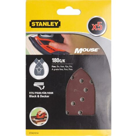 Stanley Perforated Mouse Sanding Sheet 180 Grit Stanley