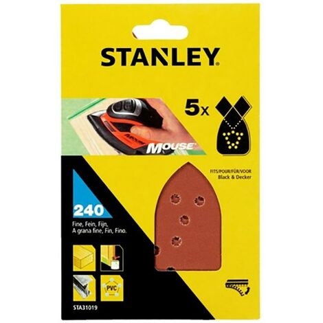 Stanley Perforated Mouse Sandpaper Sheet 240 grit Stanley