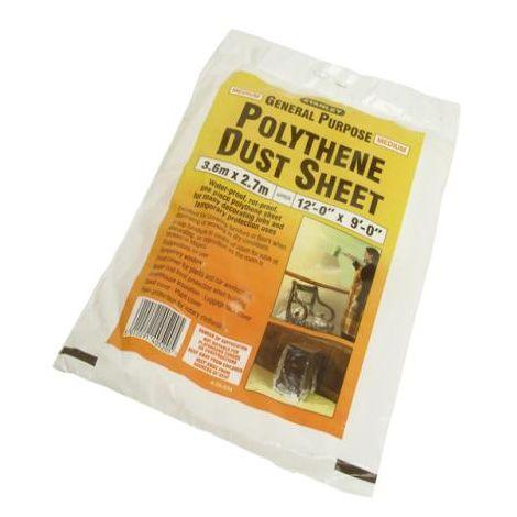 Stanley Polythene Dust Sheet 3.6m x 2.7m