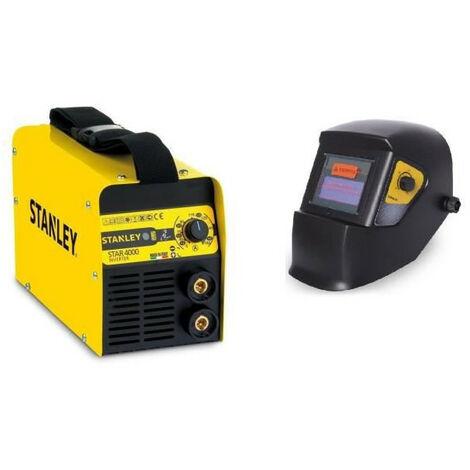 STANLEY Poste a souder inverter Star4000 160A avec cagoule de soudure LCD automatique 9/13 + lot de 5 electrodes