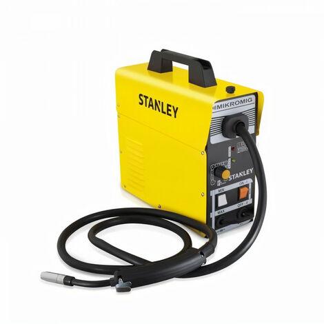 STANLEY Poste a souder Mig Mag 90A semi automatique Mikro Mig + bobine fil fourré 0.8mm 1kg
