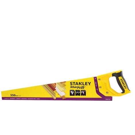 Stanley Sharpcut Handsaw 22 Inch 550mm 11TPI STA120372 1-20-372 STHT20372-1