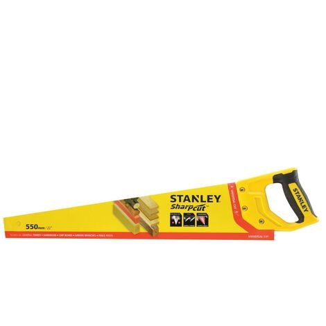 Stanley Sharpcut Handsaw 22 Inch 550mm 7TPI STA120368 1-20-368 STHT20368-1