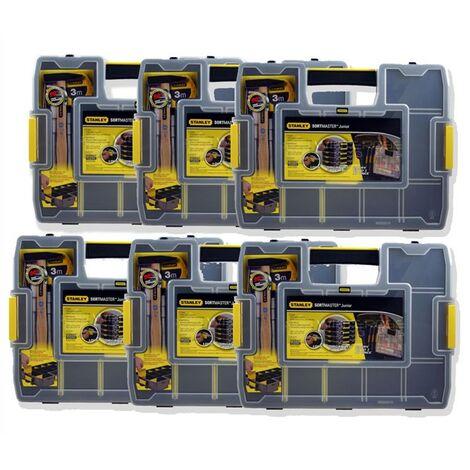 Stanley STA197483 Sortmaster Junior Organiser Tool Box Seal Tight 1-97-483 x6