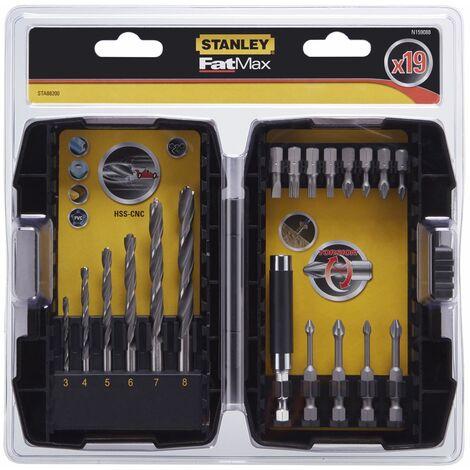 Stanley STA88200-XJ Juego de 19 piezas para atornillar y taladrar