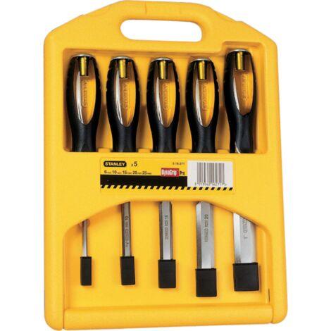 Stanley Stechbeitel-Set FatMax, 5-teilig, gelb/schwarz