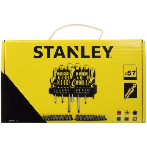 Stanley STHT0-62143 Set Giraviti Inserti e Chiavi a Bussola, 57 Pezzi