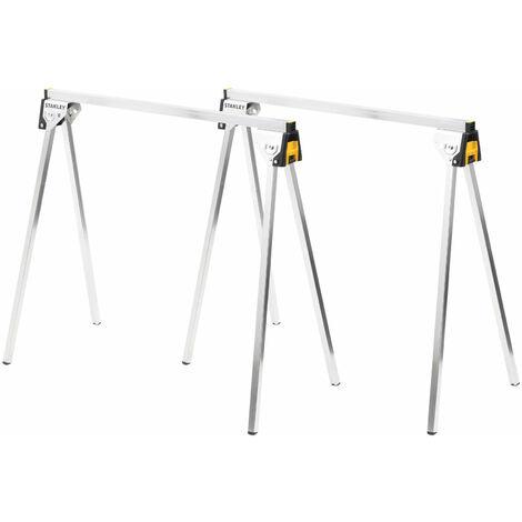 Stanley STST81337-1 Essential Metal Sawhorses (Twin Pack)
