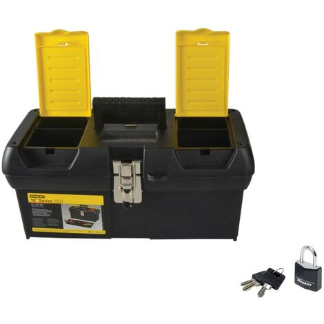 Stanley Toolbox 16in Durable Metal Latches Includes a Padlock 1-92-065 STA192065