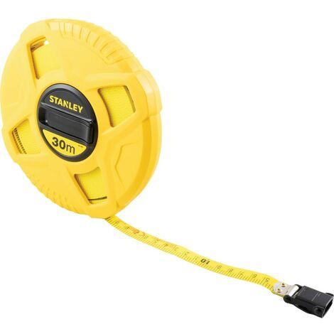 Stanley Tools Closed Case Fibreglass Tape 20m (Width 12.7mm)