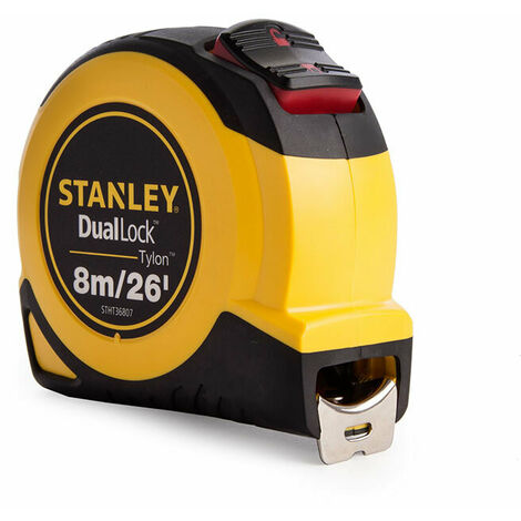 Stanley Tools STA036807 DualLock™ Tylon™ Pocket Tape 8m/26ft (Width 25mm)