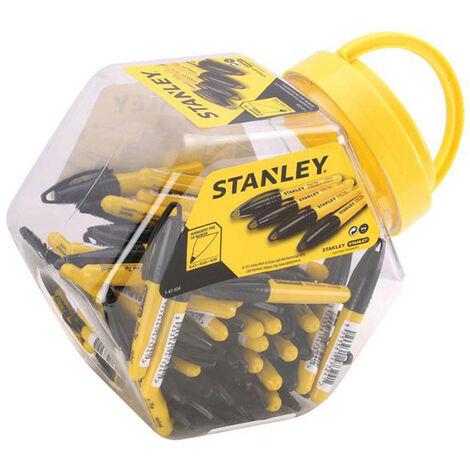 "main image of ""Stanley Tools STA147324 Mini Fine Tip Marker Black (Tub of 72)"""