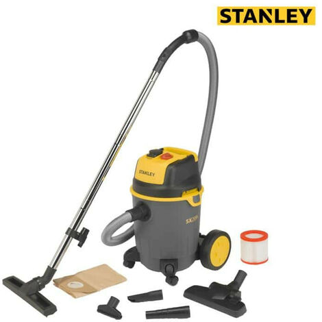 STANLEY Water and Dust Vacuum Cleaner - 1200W - Polypropylene Tank - 25L