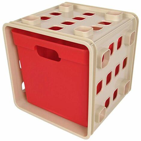 Stapelbarer Modulwürfel mit Box Steckregal Wandregal Kinderzimmer Regalsystem