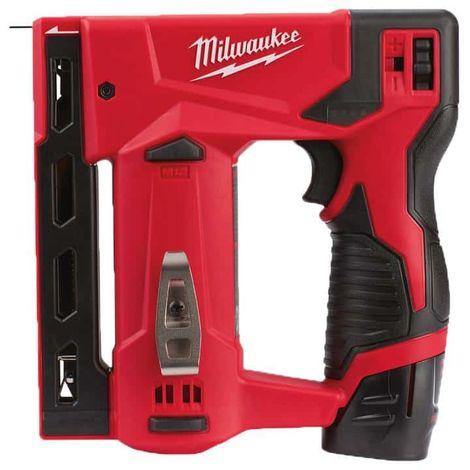 Stapler MILWAUKEE M12 BST-202X - 2 batteries 2.0 Ah - 1 charger 4933459635