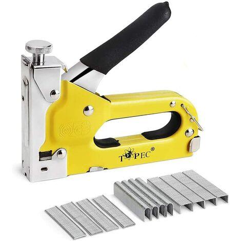 Stapler Nailer 3 in 1 Manual Wood Stapler with 600 staples -Heavy Duty Stapler for Upholstery, Fixing Material, Decoration, Carpentry, Furniture