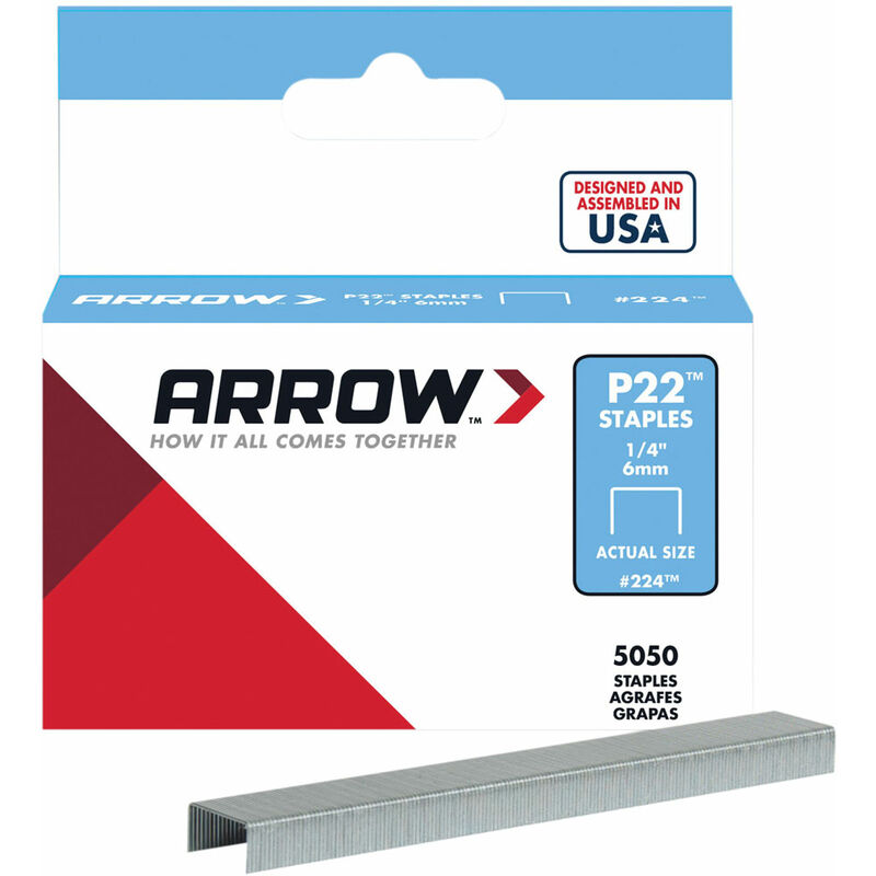Image of Arrow A224 P22 Staples 6mm (1/4in) Box 5050
