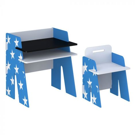 Star Desk and Chair Blue
