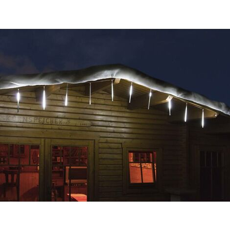 Star-Max Chaîne lumineuse LED effet chute de neige à 10 tiges pour l'intérieur et l'extérieur