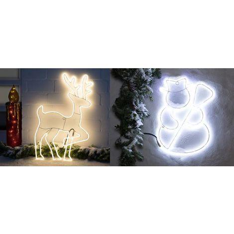 Lights4fun T/ête de Cerf Lumineuse de No/ël Scintillante /à LED Blanches pour Int/érieur ou Ext/érieur