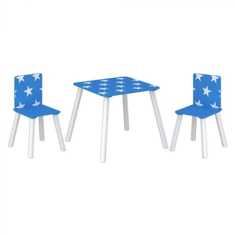 Star Table and Chairs Blue