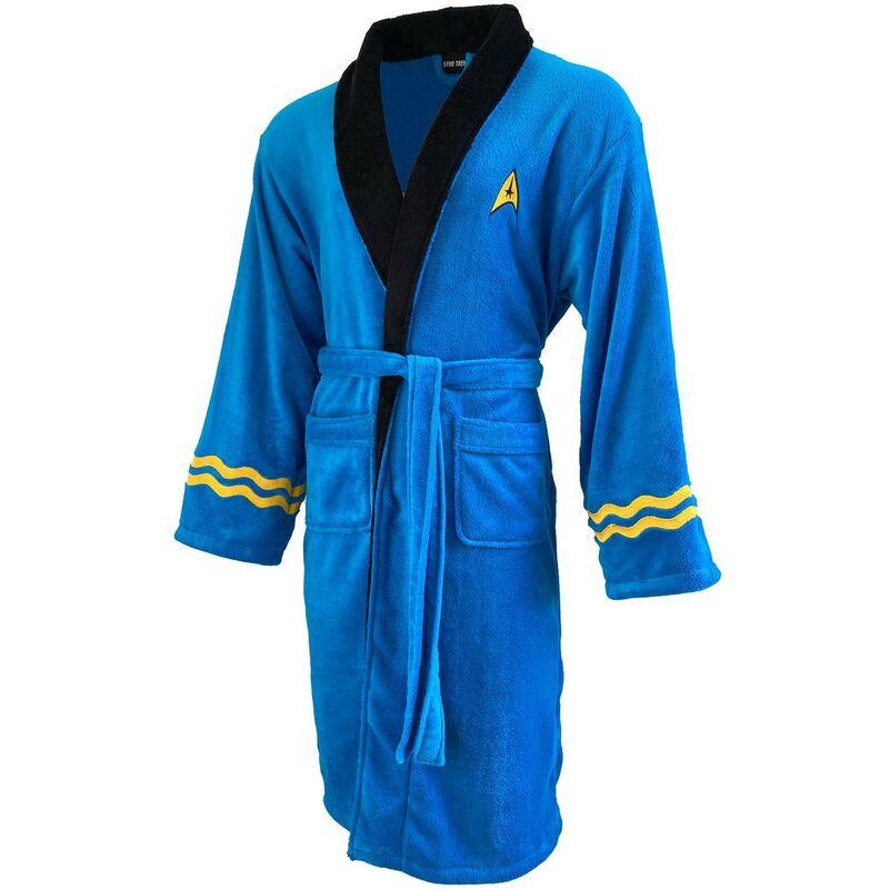 Image of Groovy - Star Trek Bathrobe Dressing Night Gown Mens Robe Official Merch Blue Spock