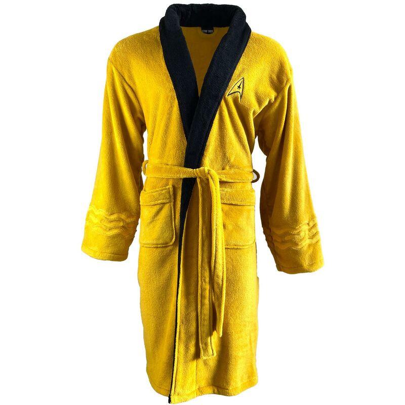 Image of Star Trek Mustard Kirk Original Bathrobe Dressing Gown Robe