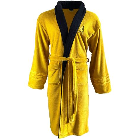Star Trek Mustard Kirk Original Bathrobe Dressing Gown Robe