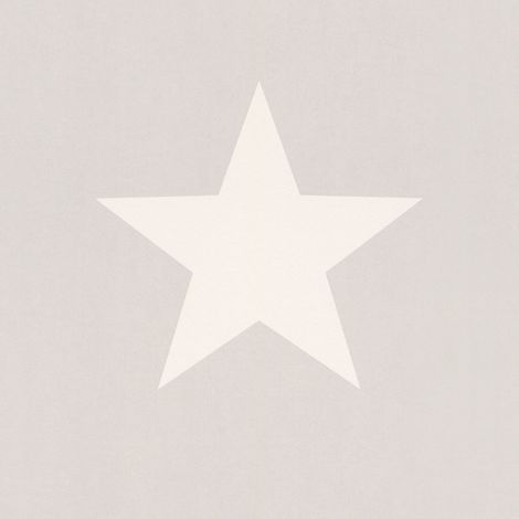 Star Wallpaper White Grey Kids Teenagers Bedroom Nursery Boys Girls Cosmos Rasch