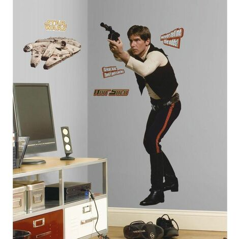 """main image of """"STAR WARS HAN SOLO - Stickers repositionnables géants Han Solo, Star Wars 145x65 - Multicolore"""""""