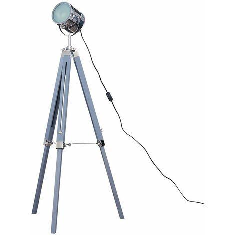 Starboard Spotlight Tripod Floor Lamp - Grey - Grey
