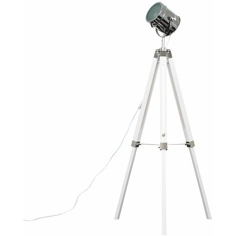 Starboard Spotlight Tripod Floor Lamp + LED Bulb - Grey