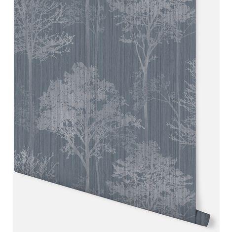 Stardust Tree Chalk Blue Wallpaper - Arthouse - 296101