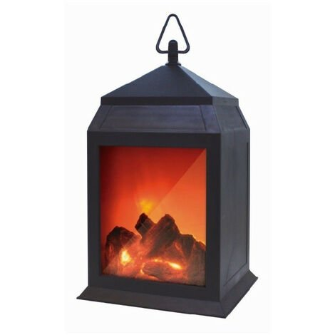 Starlyf Fire - Lanterne effet cheminée - Lampe 6 LEDs, facile à accrocher, fonctionne sans fil