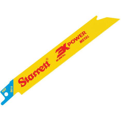 Starrett B618-5 Bi-Metal Reciprocating Blade, Metal Straight 152mm 18 TPI (Pack 5)