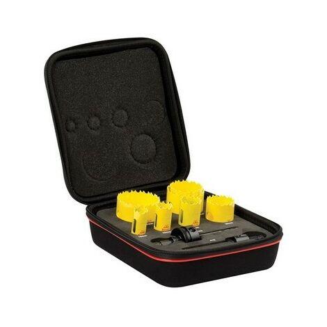 Starrett KDC07021 Deep Cut Bi Metal Plumbers Holesaw Kit 9 Piece