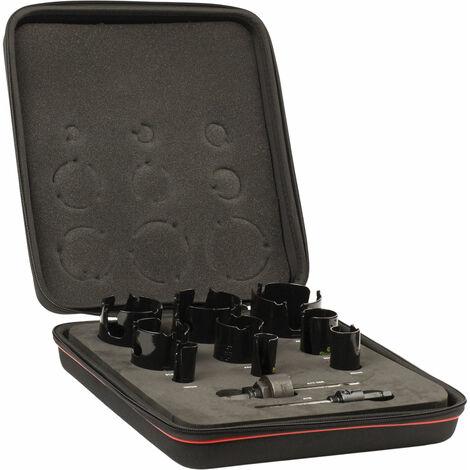 Starrett KMP09021 TCT Multi Purpose Holesaw Kit, 11 Piece
