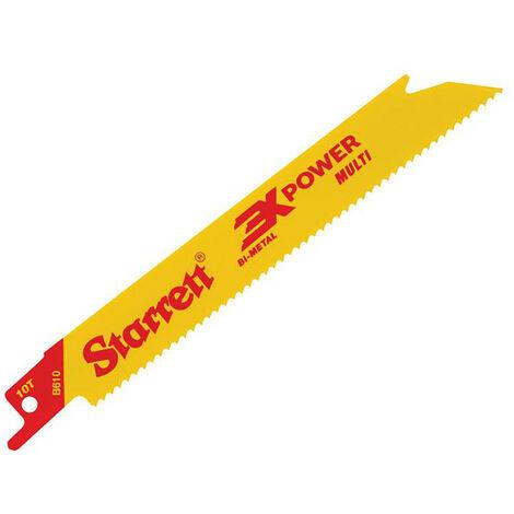 Starrett STRB6105 B6105-5 Bi-Metal Reciprocating Blade Straight 152mm 10 TPI (Pack 5)