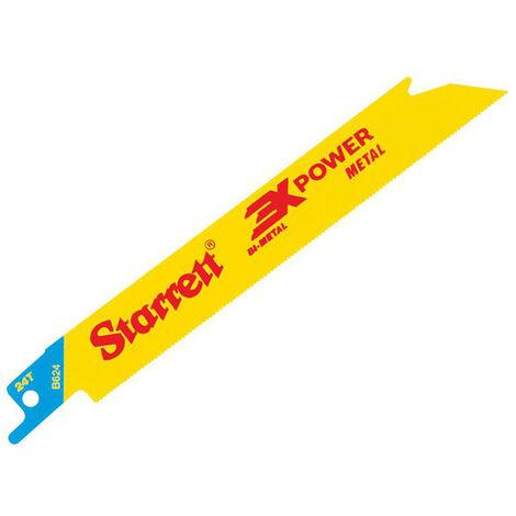 Starrett STRB6245 B624-5 Bi-Metal Reciprocating Blade Metal Straight 152mm 24 TPI (Pack 5)