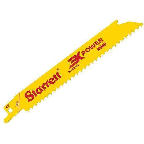 Starrett STRB665 B66-5 Bi-Metal Reciprocating Blade Wood Straight 152mm 6 TPI (Pack 5)