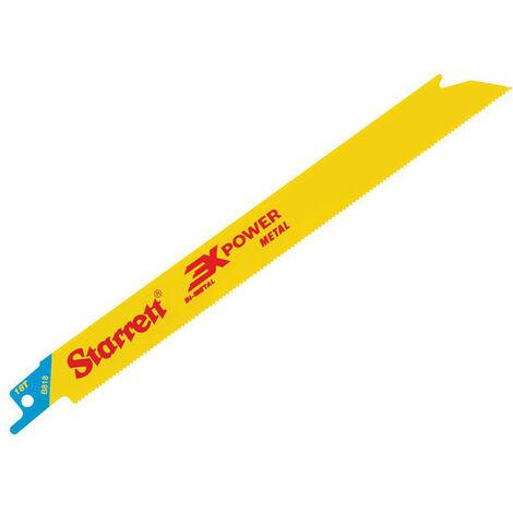 Starrett STRB8185 B818-5 Bi-Metal Reciprocating Blade Metal Straight 203mm 18 TPI (Pack 5)