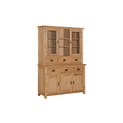 Starry Oak Display Unit And Sideboard - 3 Doors