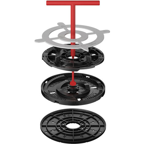 Star.T Adjustable pedestal support for raised floor (10-15 mm) with fixed head with 4mm tabs for tiles