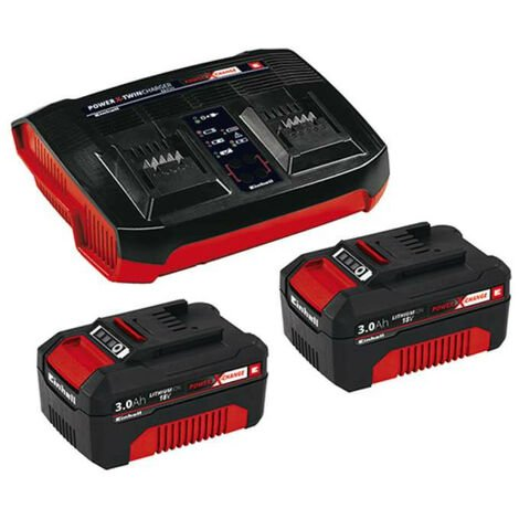 Starter Kit 2 baterias x 3.0 Ah + Cargador doble EINHELL