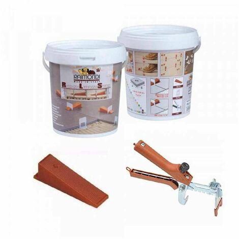 "main image of ""Starter Kit RLS per pavimenti pinza + 100 cunei + 100 basi 180KIT100 Raimondi"""