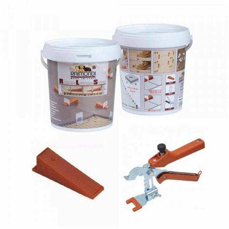 "main image of ""Starter Kit RLS per rivestimenti pinza + 100 cunei + 100 basi 180KIT100RIV Raimondi"""