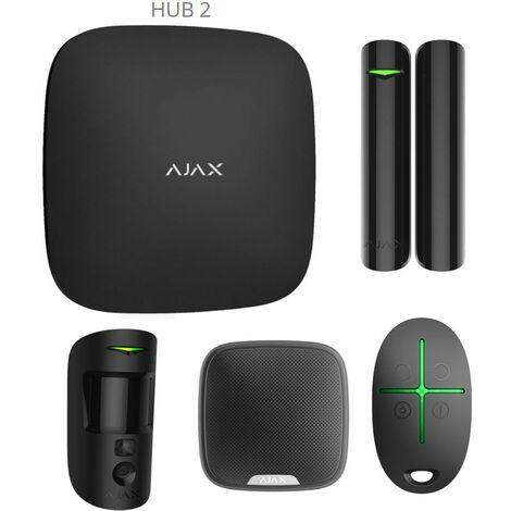 Starterkit AJAX Hub 2 + sirene exterieur blanc - Blanc